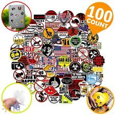 100pc Hard Hat Stickers Funny Sticker For Tool Box Helmet Welding Toolbox Decals