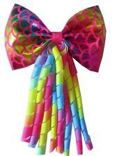 "20 Blessing 4.5"" Bowknot Corker Ponytail Elastic Hairbow Unicorn Mermaid Star"