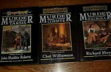 Dragonlance Forgotten Realms Complete Set of Murder Mystery BOOKS 1st HB