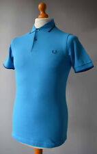Men's Blue Fred Perry Short Sleeved Slim Fit Polo Shirt Size XS.