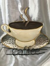 Eye Catching Coffee Cafe Shop Window Metal Hanging Indoor Logo Business Sign