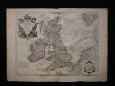 Guillaume Delisle (1675-1726) Carte ancienne Les Isles Britanniques 1800