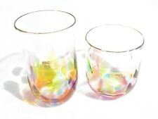"Hizen Bidoro-Set of Rainbow Tumbler & Rocks Glass""(Handcrafted in Saga)"