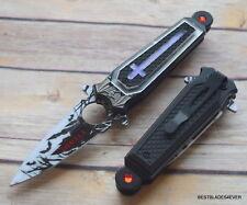 DARK SIDE BLADES SPRING ASSISTED KNIFE WITH POCKET CLIP - 7.75 INCH