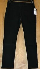 Womens NYDJ Size 2P Black Pull On Denim Jeans Leggings New Retail $124