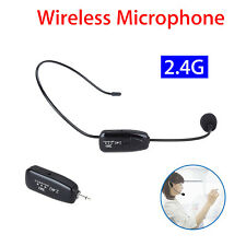 Mini Wireless Headset Headworn USB Microphone Earset For 2.4G Technology W/ Plug