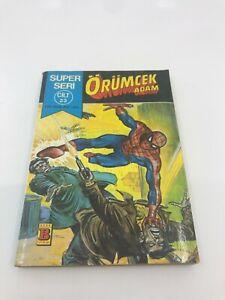 SPIDERMAN #45 #46 Turkish Comic Book 1980s MARVEL COMICS Ultra Rare PETER PARKER