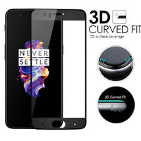 """For OnePlus 5 Five 5.5"""" Screen Protector 9H HD Curved Full Temper Glass Film"""