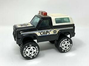 Vintage Buddy L CHiPs Bronco Truck Toy SUV 1970s TV Police Show Fair Condition