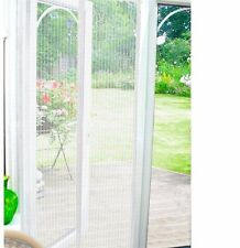 Magnetic Door Curtain Automatic Closing Fly Insect Bug Screen Net Mesh    White