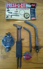 Welding Brazing Torch Oxy Acetylene, Prest-O-Lite Tips, Torch, and Regulator Lot