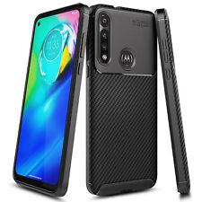 For Motorola Moto G Fast Case Ultra Sim Thin Fit Carbon Fiber TPU Phone Cover