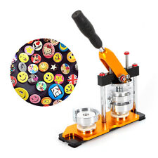 """New 2.28"""" Button Maker Machine+100 Buttons Circle Badge Punch Press Usa shipping"""