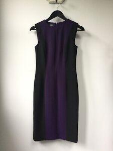 Gorgeous Ladies Hobbs Purple & Black Shift Dress, UK Size 8, Excellent Condition