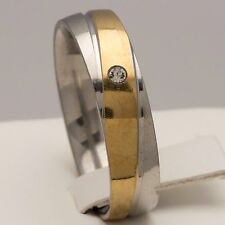 6mm Stainless Steel Silver & Gold Plated Mens & Womens Band - New Comfort Ring