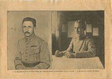 WWI Capitaine de Beauchamp Verdun/General Averescu Romania War 1917 ILLUSTRATION