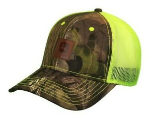 NEW John Deere Mossy Oak Camo Front Hi Visibiltiy Yellow Mesh Back LP73368
