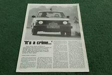 1979 MOTOR POLICE CARS REPRINT BMW 525 VOLVO 244 AUDI 100 JEEP CHEROKEE BROCHURE