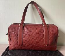 GUCCI Guccissima GG Supreme Boston Bag. Mahogany Red Colour. Authentic!!
