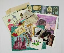 Junk Journal Ephemera Kit Scrapbook Supplies Old Book Pages Vtg Paper Collage