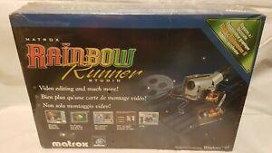 MATROX RAINBOW RUNNER STUDIO VIDEO EDITING CARD. Sealed retail pack
