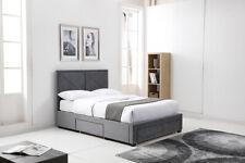 BRAND NEW Remi Grey Brushed Velvet Storage Bed 2 SIZES
