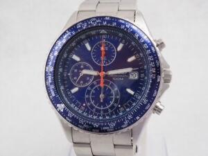 Seiko Flightmaster Pilot Aviator Watch 7T92-0CF0 Chronograph Japan New Battery