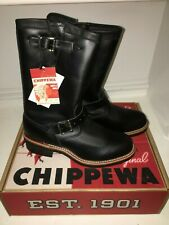 "NIB Chippewa 1901M48 Original 11"" Black Engineer Boots Motorcycle Work 9 E USA"