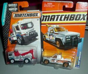 Matchbox 2 Lot GMC Wrecker Tow Truck 1/64th Scale