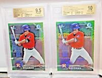 2016 Bowman Chrome Alex Bregman Rookie RC GREEN SHIMMER REFRACTOR 17/99 BGS 9.5!