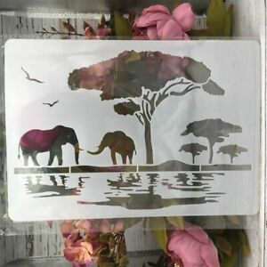 DIY Craft Elephant Africa Stencils For Wall Painting Scrapbooking Craft Tools A4