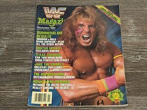 THE ULTIMATE WARRIOR WWF MAGAZINE Wrestling November 1990 Issue Summerslam RARE