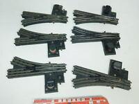 BK180-2# 6x Trix Express H0/DC Bakelit-E-Weiche: 1398 + 1399