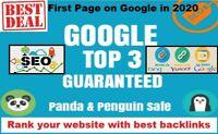 SEO BACKLINKS - Google Top 3 Guaranteed - Rank your website with best backlinks