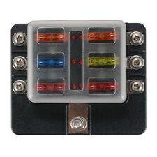 6 Way Blade Fuse Holder Box Block 32V LED Vehicle Kit for Automotive Car Marine