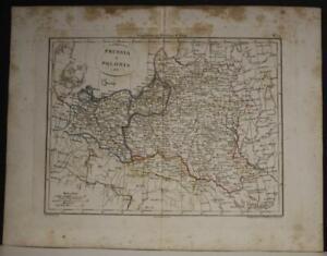 POLAND & LITHUANIA 1815 GENNARO BARTOLI ANTIQUE ORIGINAL COPPER ENGRAVED MAP