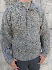 Vintage Christian Dior Men's Wool Fisherman Ski Sweater Heather Gray L Large
