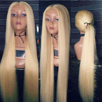 Glueless Blonde Full Front 360 Lace Wigs Peruvian Remy Human Hair Wigs Baby Hair