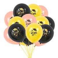10Pcs Graduation Balloons 2019 Latex Ballons Grad Gifts Graduation Party Dec FE