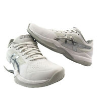 Asics Gel-Game 7 White & Silver Women Tennis Shoes Sneakers 1042A036 Size 5