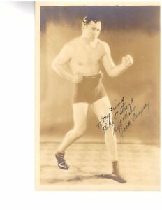 JACK DEMPSEY Autograph 8 x 10 Photo JSA Certified Boxing Hall of Famer