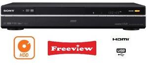 Sony RDR-HXD890 160GB HDD/DVD Recorder Multi Region ,FREEVIEW, HDMI, USB