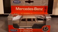 voiture miniature 1/43 mercedes benz lgd gris métal welly, die cast métal neuf