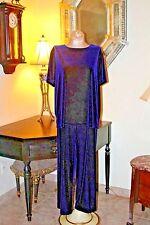 Vintage Bechamel Royal Purple Velvet Stretch Pants & Top Set
