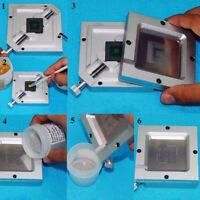 27Pcs BGA Reball Reballing Rework Net Stencil Kit Per Il Riscaldamento Diretto