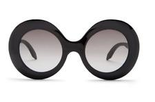 VICTORIA BECKHAM Large Oversized Round Women Sunglasses VBS127 Black Grey 135mm