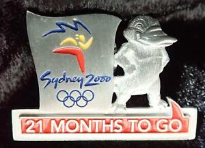 Ltd. Ed #4084 SYDNEY 2000 OLYMPIC GAMES 21 MONTHS TO GO COUNTDOWN PEWTER PIN