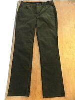 NWT Talbots Petites Heritage Women's Olive Drab Corduroy Jeans SZ 6P Str Leg