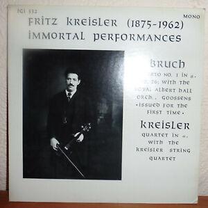 FRITZ KREISLER BRUCH VIOLIN CONCERTO / KREISLER STRING QUARTET  IGI-332  NM