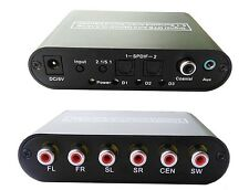 Digital DTS AC3 Optical to Analog 2.1 5.1 Surround Sound Audio Converter Decoder
